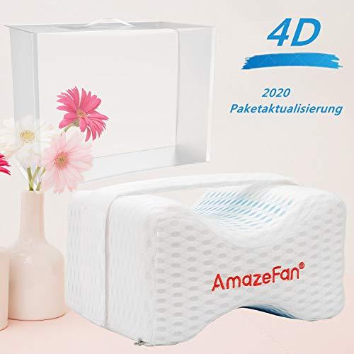 AmazeFan-Kniekissen, Orthopädisches Beinkissen mit 4d Air Mesh-Gewebe und Slow Rebound Memory Schaum, mit abnehmbarem Bezug, lindern Sie Rückenschmerzen, Optimieren Sie Hüft- und Beinkrümmungen
