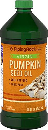 Piping Rock Virgin Pumpkin Seed Oil Cold Pressed 100% Pure 16 fl oz (473 mL) Bottle Dietary Supplement -  pr-027