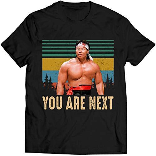 You are Next Vintage T Shirt Chong Li Lovers Gift Bloodsport Men T-Shirt (L, Black)