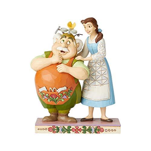 Disney Traditions, Figura de La Bella y La Bestia y Maurice, Para coleccionar,...