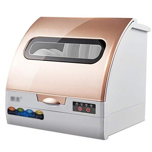 ZWHDS Mini lavavajillas, lavavajillas Totalmente automático para el hogar Pequeño lavaplatos Inteligente Programas: Eco, rápido, Vidrio, 5 L Funcionamiento de Escritorio lavavajillas Completo