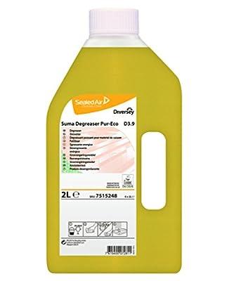 SUMA Degreaser D3.9 Pur Eco - Dégraissant professionnel pour matériel de cuisson écolabelisé - 2 L