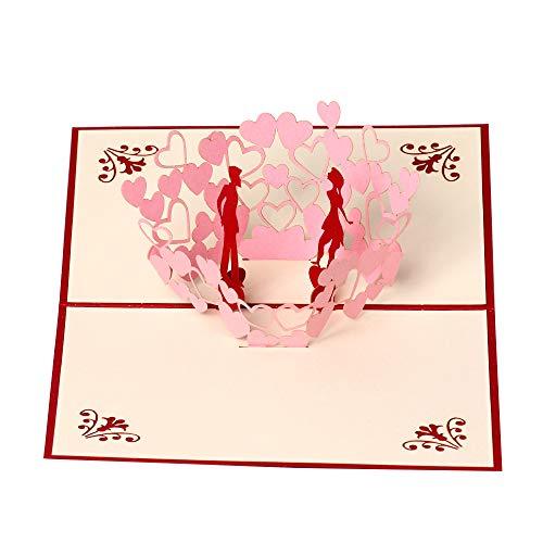 Tarjetas 3D de felicitación de cumpleaños, aniversario, regalos para parejas, parejas, marido, esposa, novio, novia, regalos
