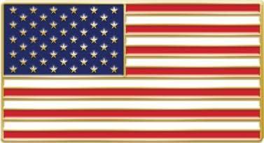Crown Awards USA Flag Emblem Japan's largest assortment Patriotic Lapel Columbus Mall - American Pin