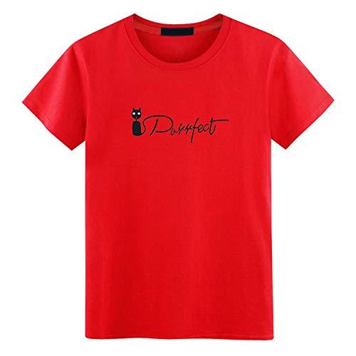 ZWH Camiseta de impresión Suelta de algodón Camiseta Cuello Redondo Resorte Sangre-Manga y la Camisa Prenda compasivo K1502 Marea (Color : J-Red, Size : XXL): Amazon.es: Electrónica