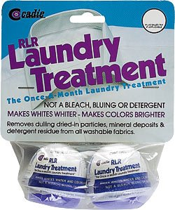 RLR Natural Powder Laundry Detergent – Whitens, Brightens, Refreshes Baby Cloth Diapers, Musty Towels, Workout Clothes - Non-Toxic, Fragrance-Free for Sensitive Skin (2 Treatment Pods)