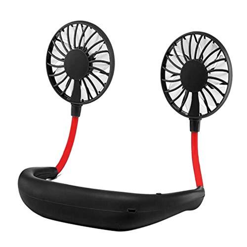 youwu Ventilador sin aspas con cuello USB, batería recargable eléctrica, ventilador de escritorio de 180 grados, ajustable, aire acondicionado deportivo (color: A)