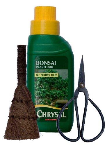 Bonsai-Baum-Pflege-Set, 3-teilig; Flüssignahrung, Schere und Pinsel