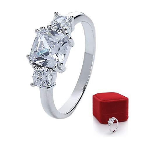 prettique Stars&Royals Damen Ring Meghan – 925 Sterling Silber - Zirkonia Steine – Silberring – Royal – Verlobungsring aus dem britischen Königshaus – Empfohlen von Bunte.de