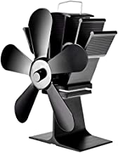 COSTWAY Heat Powered Stove Fan with 5 Blades - Aluminium Silent Eco-friendly for Wood Log Burner Fireplace