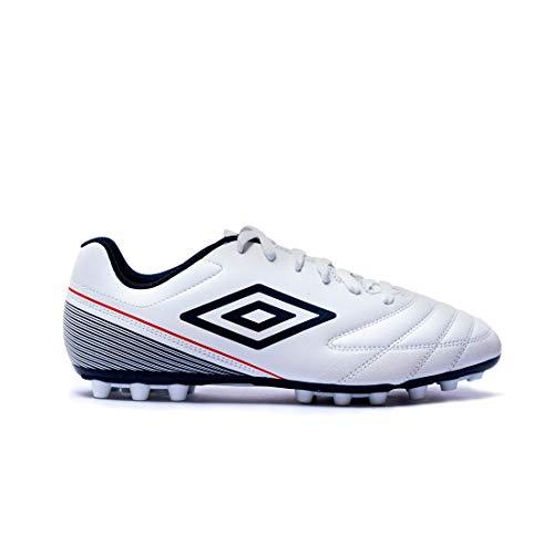 Umbro Classico VII AG, Botas de fútbol Hombre, Blanco (White/Dark Navy/Vermillion D62), 42 EU