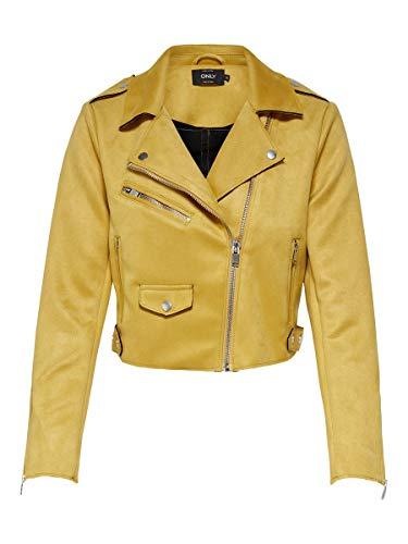 ONLY - Giacca da donna in stile biker Golden albicocca. 42