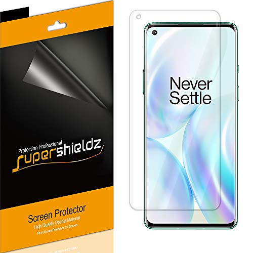 (2 Pack) Supershieldz for OnePlus 8 Screen Protector, (Full Coverage) High Definition Clear Shield (TPU)