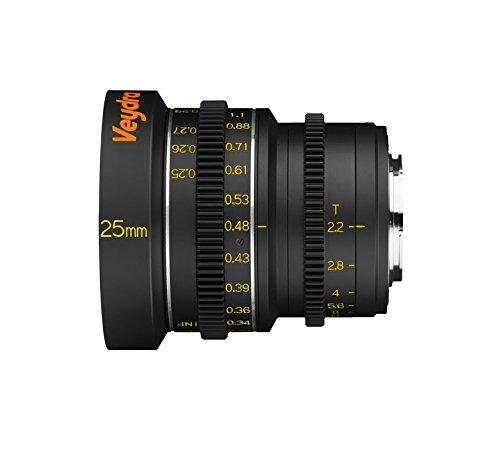 veydra V1–25t22m43m Mini Prime 25mm T2.2Profesional vídeo Objetivo para Micro Cuatro tercios (Rosca de Filtro de 77mm)