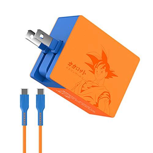 「ドラゴンボールテーマ」Nintendo Switch/Switch LiteACアダプター 任天堂スイッチ 充電器 Switch用充電器 USB Type-Cコネクタ PD規格 2.5mケーブル Switch Lite/Switch ドック/コントローラー/Switch本体をスピード充電 5V 1.5A/9V 3A/15V 2.6A出力 60W ACアダプター (PD充電器)