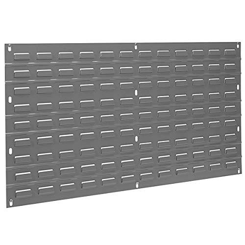 Akro-Mils 30136 Louvered Steel Wall Panel Garage Organizer for Mounting AkroBin Storage Bins, (36-Inch W x 19-Inch H), Grey, (1-Pack)