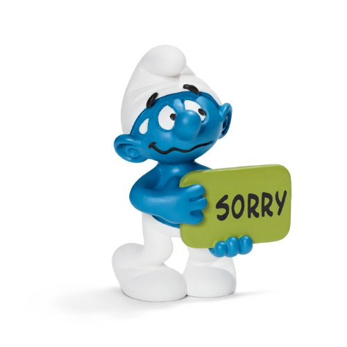 Sorry Smurf Toy Figure