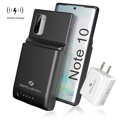ZEROLEMON Galaxy Note 10 Battery Case 8600mAh, Qi Wireless Charging & Android Auto & Samsung Dex & Fast Charging Supported, UltraPower Extended Battery Charger Protective Case for Galaxy Note 10-Black