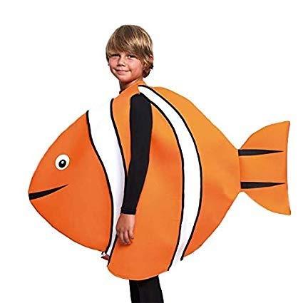 Disfraz de Pez Payaso Infantil - Unisex, de 5 a 6 años