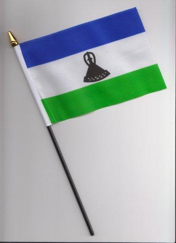 Lesotho Hand Flagge 25cm