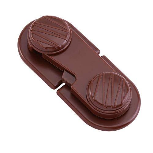 BANGSUN Niños prueba de pestillos creativos adhesivos gabinete de seguridad nevera niño cajón marrón