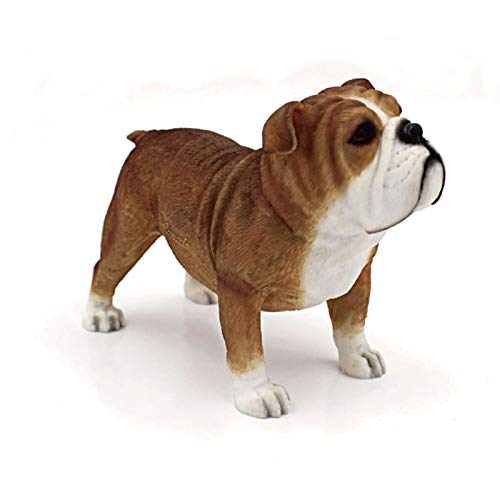 The Leonardo Collection - Statuetta Decorativa a Forma di Bulldog Britannico, realistica