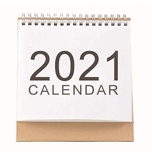 DDyna Calendario Simple Eventos creativos 2021 Empresa Accesorios de Oficina de Escritorio Calendario del hogar Blanco - M