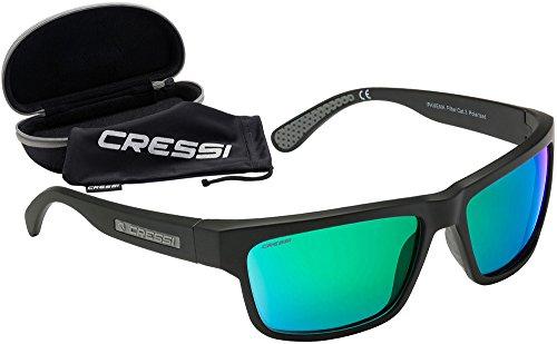 Cressi Ipanema Sunglasses Gafas de Sol, Unisex Adulto, Gris/Lentes Verde Espejo, Talla única