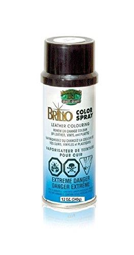 Brillo Leather Color Spray Dye White 12oz