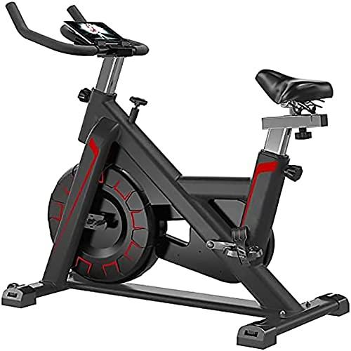 Bicicleta de Ejercicios, Bicicleta estacionaria Interior Tranquila para Principiantes y Profesionales, Bicicleta de Ciclismo Ajustable portátil con cómodo cojín de Asiento,Black Red
