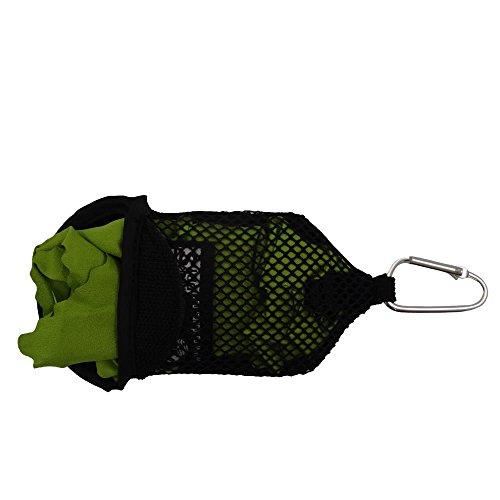 outdoorer PackDRY S, Mikrofaser Handtuch mit Clip, klein, leicht, schnelltrocknend, das Trekkinghandtuch
