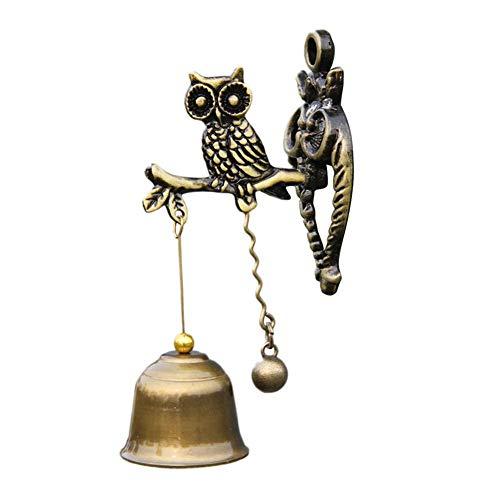 HELLOO Home Campanas de viento retro colgante de campanas de estilo vintage, campanas de decoración para paredes, patio, decoración de jardín, tienda