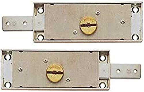Coppia di serratura a doppia mappa laterali (destra + sinistra)per serrande avvolgibili