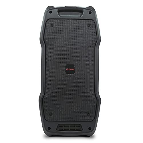 Aiwa KBTUS-400: Altavoz Karaoke con Bluetooth, Dos micrófonos, Mando a Distancia