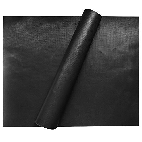 FARSIC 2 Piece of (15.75'x 13') BBQ Grill Mat-Nonstick, Reusable and Dishwasher Safe
