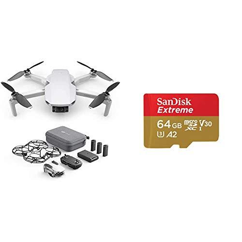 DJI Mavic Mini Combo Drone Leggero e Portatile + Sandisk Extreme Scheda di Memoria Microsdxc da 64 GB