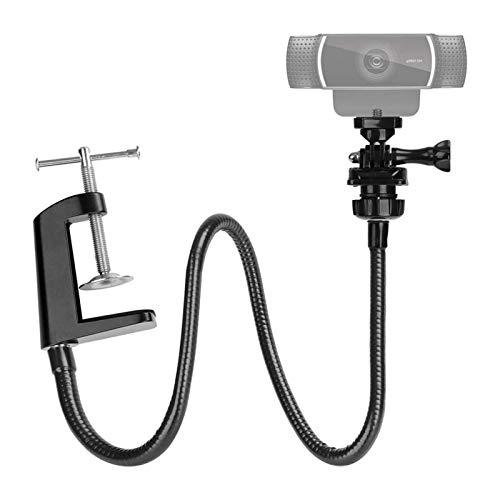 Soporte para cámara web, soporte para cámara de escritorio resistente con cuello de cisne flexible para Logitech Webcam, portátil, para grabación de vídeo y fotografía de productos