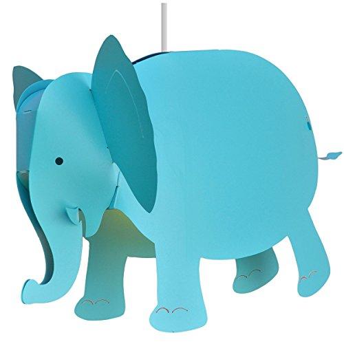 R&M Coudert Lámpara Colgante Infantil Elefante Turquesa 30 x 40 cm