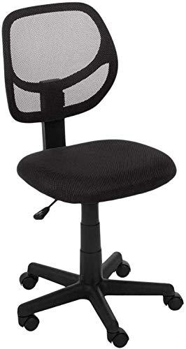 Casa Copenhagen Low Back Professional Look Home Office Desk Chair Adjustable Mid Back 360 Rolling Swivel - Dark Black