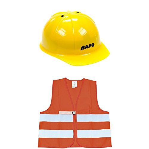 Eduplay 800077 - Bauhelm und Warnweste für Kinder im Set