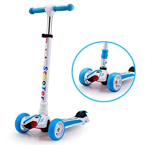 Kyman Calle Patinete, 3 Ruedas de Altura Ajustable Kick Scooter con luz LED hasta Ruedas for Niños Niñas Edad 2-12, Apoyos 110.23lbs Peso (Color : 2)