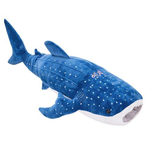 YABINA TOYS 鯨 クジラぬいぐるみ・リアル抱き枕・特大クジラクッション お誕生日 ギフト 肌触りが良い 可愛い海洋魚ぬいぐるみ (150cm)