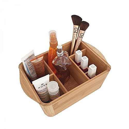 Opportunity Bac de Rangement Maquillage à Compartiments en Bambou