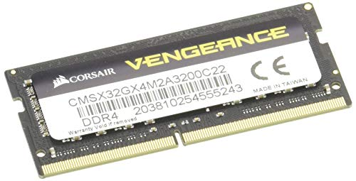Corsair Vengeance SODIMM 32 GB (2 x 16 GB) DDR4 3200 MHz CL22, Color Negro