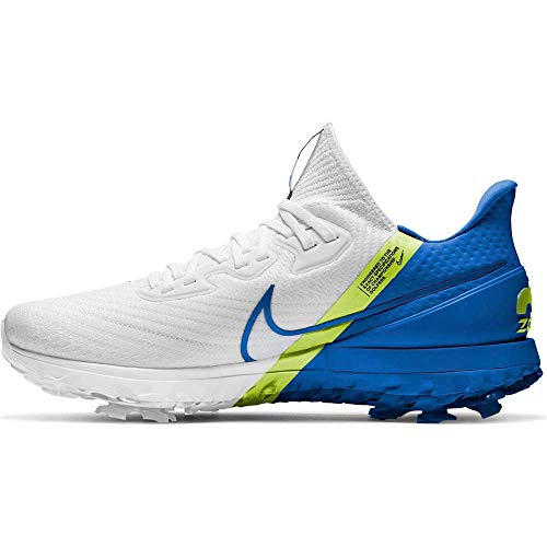 Nike Air Zoom Infinity Tour - White/Baseball Blue-Volt, Größe:10