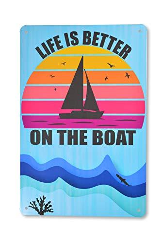 Cartel de chapa barco