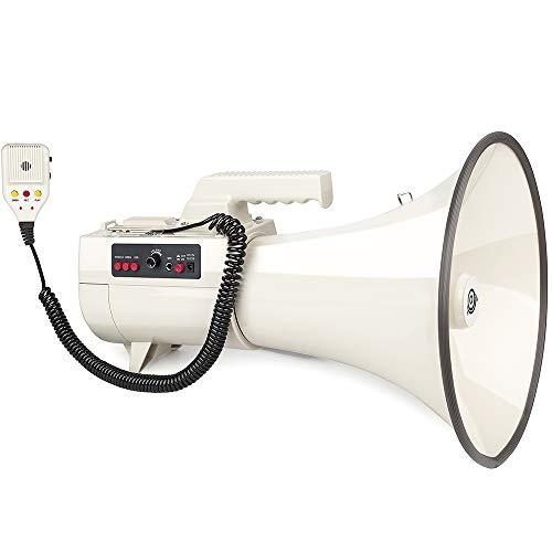 超大音量メガホン 拡声器 70W ハンドマイク付 サイレン機能 ハンディマイク アウトドア イベント