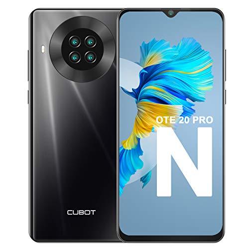 Teléfono Móvil Libre, CUBOT Note 20 Pro Smartphone 4G Android 10.0 Dual SIM 6,5 Pulgadas 6GB RAM+128GB ROM 4200mAh Cámara cuádruple de 20MP Face ID, NFC, GPS WiFi, Helio P60, Octa-Core, Negro