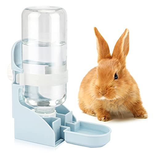 HYLYUN Kaninchen Automatischer Wasserspender, 500ml Hängend Haustier Wasserspender für Meerschweinchen Chinchillas Igel Frettchen