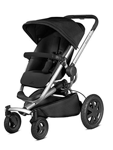 Quinny Buzz Xtra Kombi-Kinderwagen und Sportbuggy, ab der Geburt nutzbar mit Maxi-Cosi Babyschale, automatische sekundenschnelle Aufklappfunktion und robuste Reifen für jedes Gelände, schwarz